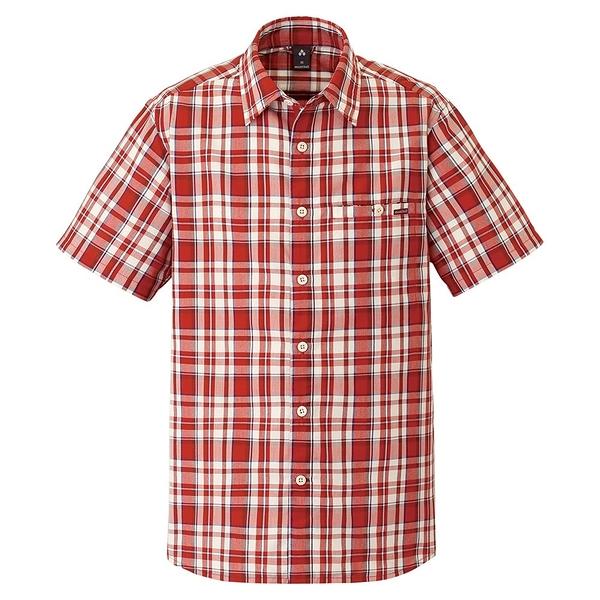 [好也戶外]mont-bell Wickron 男款短袖單口袋襯衫/紅褐 No.1114282-RUST