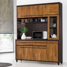 【森可家居】川普5尺餐櫃 (上+下) 10ZX633-4 廚房收納櫃 碗盤碟櫃 積層拼接木紋 工業風 MIT