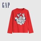 Gap男幼童 Gap x Disney 迪士尼系列圓領長袖T恤 649671-紅色