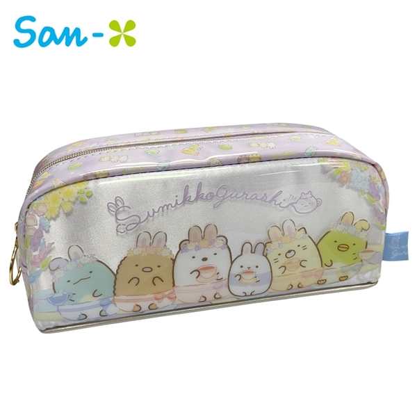 【日本正版】角落生物 兔子花園 防潑水 筆袋 鉛筆盒 角落小夥伴 San-X 780353