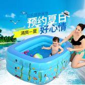 (交換禮物 創意)聖誕-家用嬰兒的游泳池兒童充氣洗澡池嬰幼兒浴池超大成人方形戶外水池BLNZ