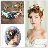 髮飾 森系花朵漿果鹿頭新娘花環攝影道具皇冠頭飾頭環寫真髮飾-凡屋