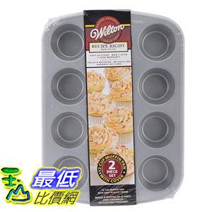 [106美國直購] Wilton 2105-1832 烤盤 附蓋 馬芬蛋糕模 杯子蛋糕模 Recipe Right Covered Muffin Pan