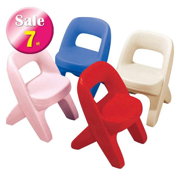 小椅子藍色美國STEP2 兒童幼兒桌椅塑膠椅幼兒園椅
