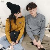 情侶裝秋冬季2018新款韓版潮針織衫外套寬鬆一男一女百搭套頭毛衣 挪威森林