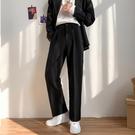 潮流長褲 休閒西褲男士夏季薄款寬鬆直筒九分褲韓版潮流冰絲垂感西裝長褲子