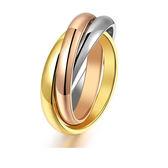 【5折超值價】最新款日韓新品經典三生三世三色女款鈦鋼戒指