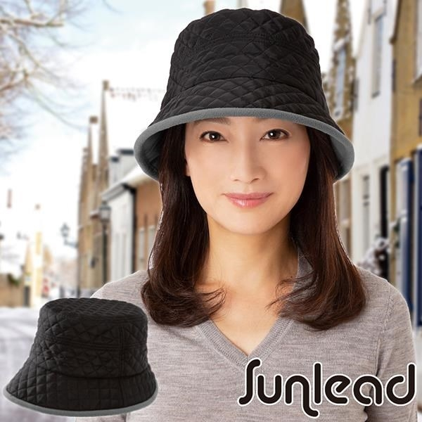 【南紡購物中心】Sunlead 吸濕發熱fleece菱形絎縫軟帽 (銀灰色)