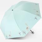 遮陽傘 新款韓版兩用女小清新三折疊黑膠防紫外線太陽小鹿遮陽晴雨傘【快速出貨八折鉅惠】