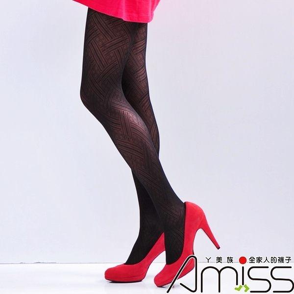 Amiss-襪子團購網♥【A133-83】流行花紋褲襪-大大花紋