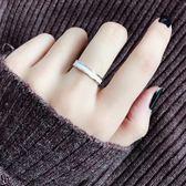 鋼戒 食指鈦鋼戒指不掉色玫瑰金個性大氣時尚指環 巴黎春天