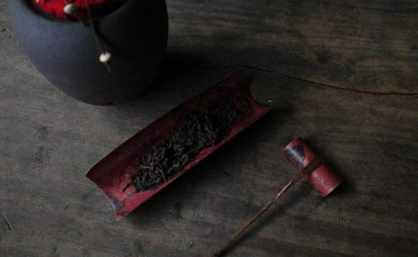 [協貿國際]復古全手工鍛打紫銅茶則茶勺茶鏟茶匙茶撥茶枕茶道配件