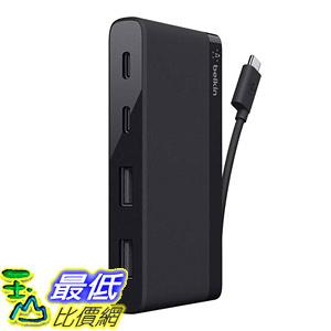 [8美國直購] 集線器 Belkin USB-IF Certified 4-Port Mini USB-C Hub Two USB-C Two USB-A Ports Not Supporting