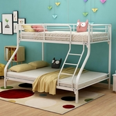 鐵藝床子母床鋼木床上下鋪母子床雙層床鐵床高低床宿舍雙人鐵架床YJT 阿宅便利店