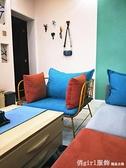 鐵藝沙發簡約現代工作室服裝店沙發懶人網紅小沙發北歐沙發椅 開春特惠 YTL