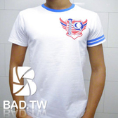 奢華壞男《1069限量款 - 超舒適彈性合身剪裁T恤 (白底藍領) 》【M / L / XL / 2L / 3L】