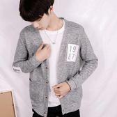 韓版開衫毛衣男學生ins針織外套針織衫chic上衣 萬客居