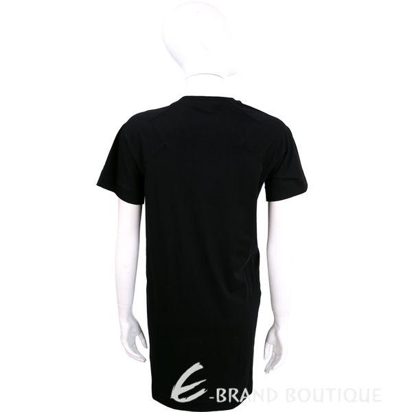 KENZO 黑色品牌字樣圖騰設計棉質短袖洋裝 1620635-01