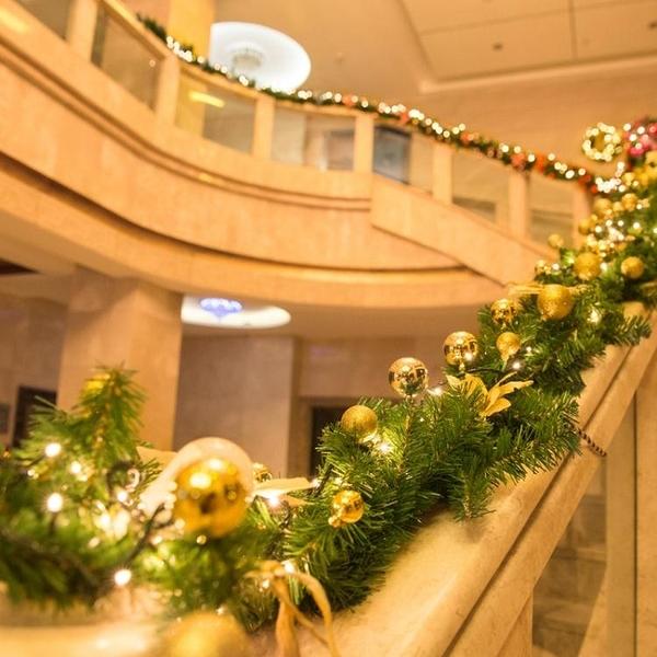 聖誕裝飾品 場景布置櫥窗掛擺件豪華加密花環樹套餐2.7米聖誕藤條WD 亞斯藍