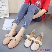 [百姓公館] 小皮鞋 單鞋 奶奶鞋 蝴蝶結 平底  淺口鞋子