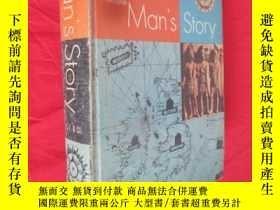 二手書博民逛書店Man s罕見Story :World History in its Ceographic Setting (16