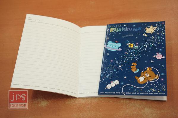 拉拉熊 32開 筆記本 太空 深藍綠太空人