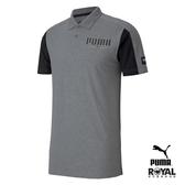Puma 灰色 棉質 短袖 polo衫 男款 NO.H3007【新竹皇家 58517403】