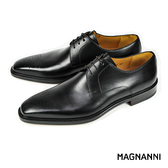 【MAGNANNI】簡約德比紳士皮鞋 黑色(15327-BL)