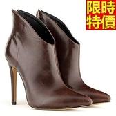短靴 高跟女靴子-休閒個性氣質新款休閒5色66c39【巴黎精品】