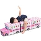 兒童玩具收納凳儲物凳子可坐人摺疊收納箱筐多功能寶寶卡通整理盒 NMS 露露日記