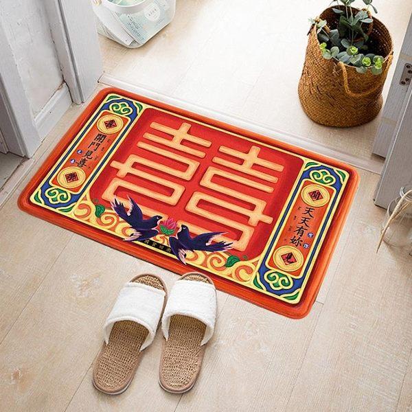 門墊 創意手繪家用腳墊門口地墊臥室茶幾床前毛絨衛浴玄關客廳進門 - 古梵希