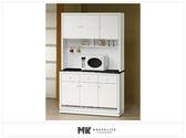 【MK億騰傢俱】ES702-03水鑽白色4尺石面碗盤餐櫃(全組)