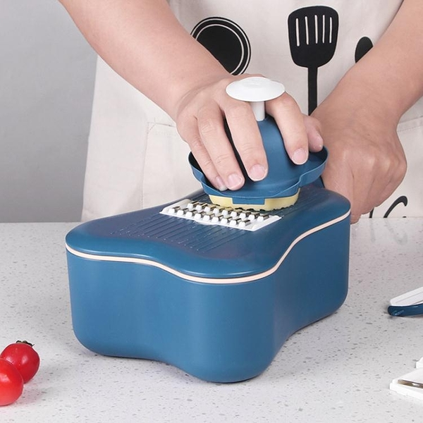 BJ/拜杰廚房用品多功能切菜器家用土豆切片神器不銹鋼刨削擦絲器 印巷家居