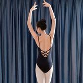 紅舞鞋芭蕾舞蹈服裝棉體操 吊帶連身上衣中背半體服芭蕾舞練功服雙11限時八五折搶先購