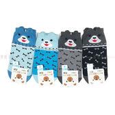 【KP】17-19cm 兒童襪 KIDS SOCKS 可愛小狗造型 立體滑襪 6-9歲 骨頭 淺藍 深藍 黑色 灰色 四
