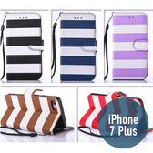 iPhone 7 Plus (5.5吋) 彩虹皮套 插卡 支架 側翻 錢包 手機套 手機殼 保護套 條文