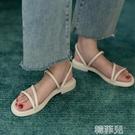 平底涼鞋 拖鞋涼鞋兩穿女仙女風時尚外穿夏季新款平底網紅百搭ins潮 韓菲兒