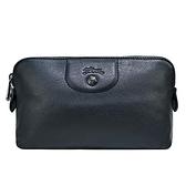 【南紡購物中心】LONGCHAMP LE PLIAGE CUIR系列小羊皮手拿/化妝包(黑)