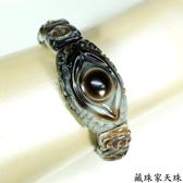 《藏珠家天珠》精品財咒天眼+黃財神天珠手鍊-天珠手排