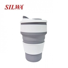 【西華名鍋】旅行矽膠折疊杯/5組 (綠、粉色,灰色)
