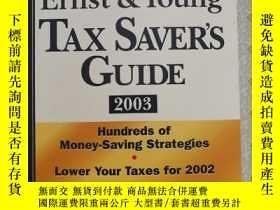 二手書博民逛書店英文原版罕見The Ernest & young Tax Sav