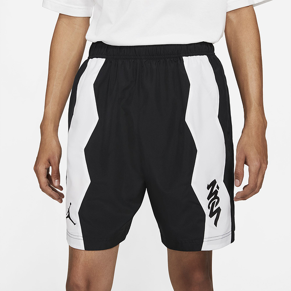 NIKE J ZION DF PERF WVN SHORT 黑白 男 抽繩 慢跑 訓練 短褲 DH9714010