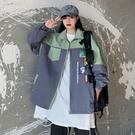 棒球服寬鬆女士外套 潮流女生外套 洋氣簡約女外套韓版外套 秋季撞色夾克外套 百搭時尚女生外套