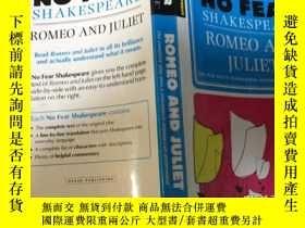 二手書博民逛書店莎士比亞《羅密歐與朱麗葉》英文原版劇本罕見NO FEAR Sha