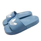 adidas 涼拖鞋 Adilette Lite W 藍 白 女鞋 涼鞋 愛迪達 運動拖鞋【ACS】 FY6542