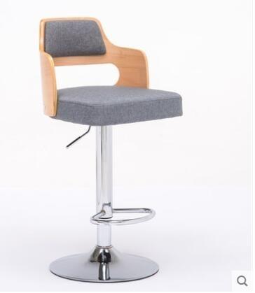 ( 促銷95折 ) 吧檯椅歐式升降旋轉輕奢吧椅鐵藝高腳靠背椅-HYQ