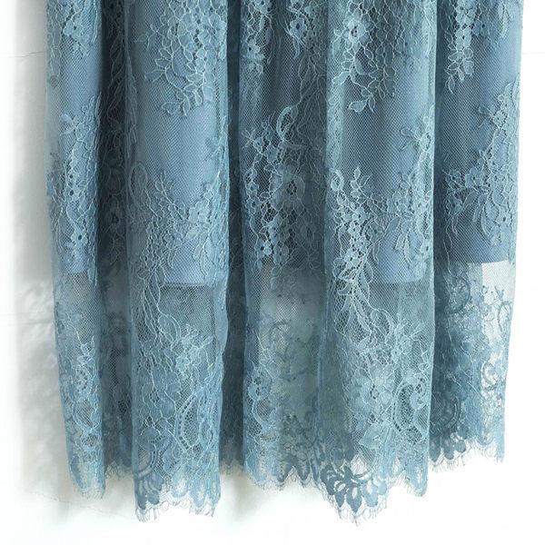 秋冬單一價[H2O]整圈鬆緊帶飄逸百搭長蕾絲裙 - 綠/深藍/灰色 #8632014