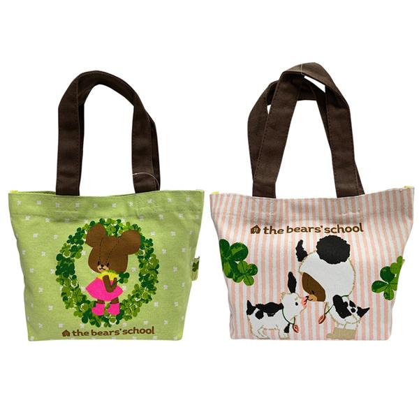【日本正版】小小熊學校 帆布 手提袋 便當袋 午餐袋 The Bears School 430634 430641