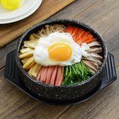 固米斯麥飯石韓式石鍋魚石鍋拌飯專用鍋陶瓷砂鍋送托盤     ciyo黛雅