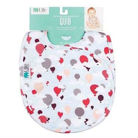 圍兜 / 口水巾 Bebe Au Lait - Lille │ 嬰兒雙面口水巾- Hot Air Balloons 款 (1入)  BLHAB